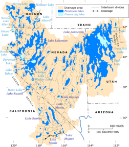 Map of Pleistocene Lakes of the Great Basin. Source: USGS.
