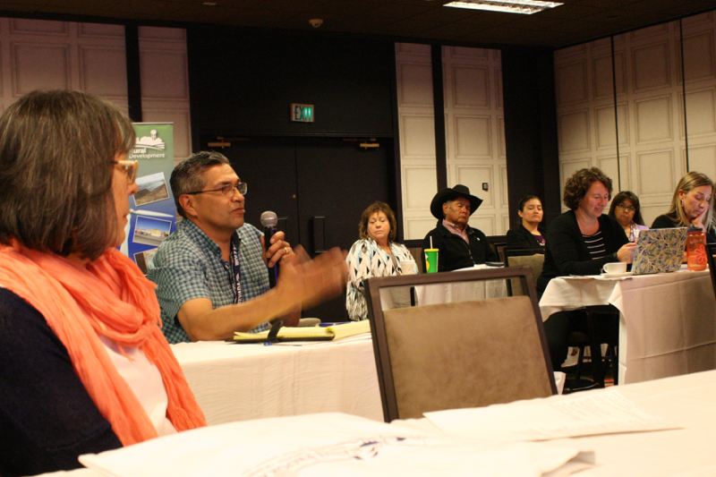 Participants speak during a roundtable discussion at NWAL's Climate Resilience Workshop held in Reno, NV, May 9, 2017.