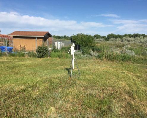 Weather station at Aaniiih Nakoda College.