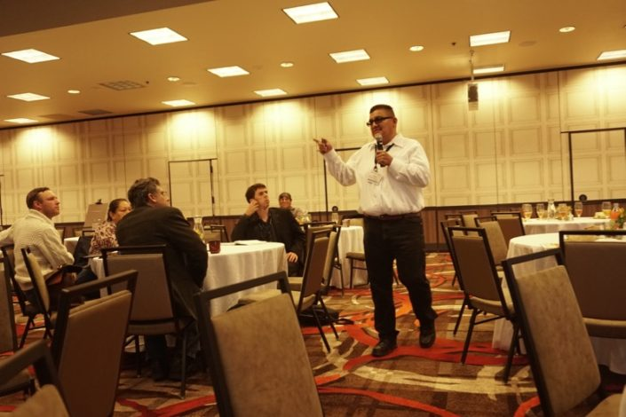 Steven Chilchilly discusses educational opportunities for tribal youth during the Tribal Education Forum