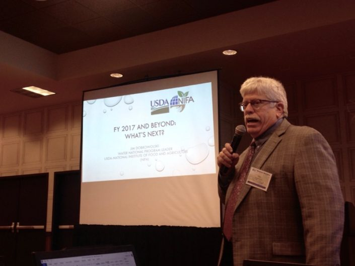 Jim Dobrowolski presents an overview of USDA-NIFA programs at the 2017 Tribal Summit.