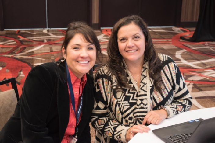 Summit organizers Vicki Hebb and Staci Emm