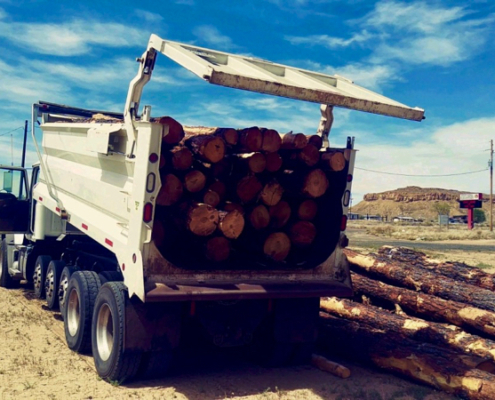 Since March, more than 100 cords of wood have been delivered to three Hopi and Navajo communities. (Photo courtesy of Joe Dirt Excavating)