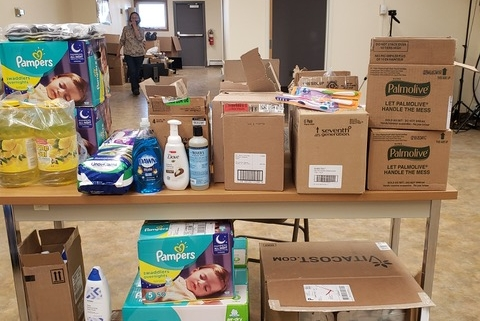 Donations sent to Alaska during NWAL's december donation drive